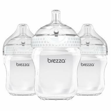 Baby Brezza Large Polypropylenes Bottle Trio White