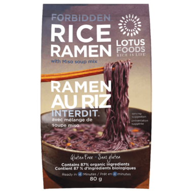 Lotus Foods Forbidden Black Rice Ramen with Miso