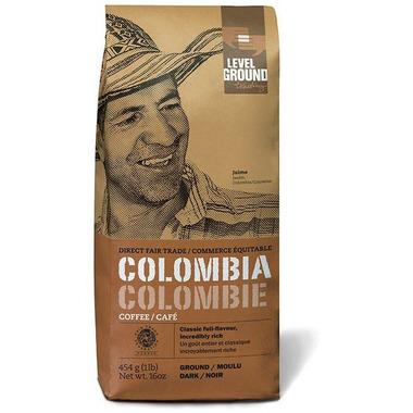 Level Ground Colombian Dark Roast Coffee Ground