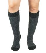 Pudus Tall Boot Sock Heather Black