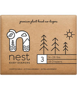 nest Natural Plant Based Baby Diaper Size 3