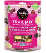 Healthy Crunch Trail Mix Chocolate Cherry Sundae