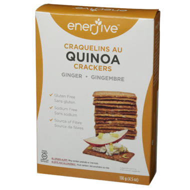 Enerjive Quinoa Crackers Ginger
