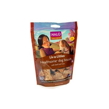 Halo Liv-A-Littles Healthsome Dog Biscuits With Beef & Liver