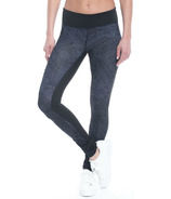 Gaiam Luxe Om Yoga Legging Odyssey Gray Adorned Print