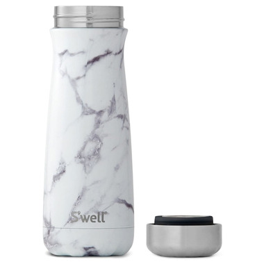 S\'well White Marble Stainless Steel Wide Mouth Traveler Bottle