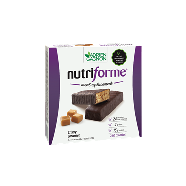 Adrien Gagnon Nutriforme Meal Replacement Bar Crispy Caramel