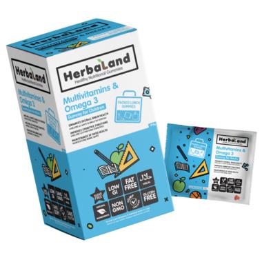 Herbaland Multivitamins & Omega-3 Lunch Box Gummies for Kids