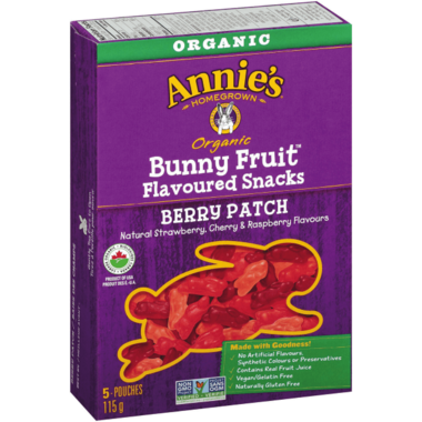 Annie\'s Homegrown Organic Bunny Fruit Snacks Berry Patch