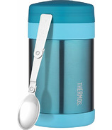 Thermos Stainless Steel Food Thermos With Folding Spoon Teal