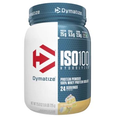 Dymatize Nutrition ISO100 Hydrolyzed Whey Protein Birthday Cake