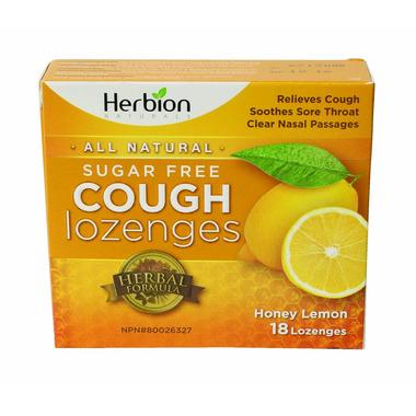 Herbion Sugar Free Honey Lemon Lozenges