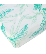 Nest Designs Fitted Bamboo Crib Sheet Leaves Green