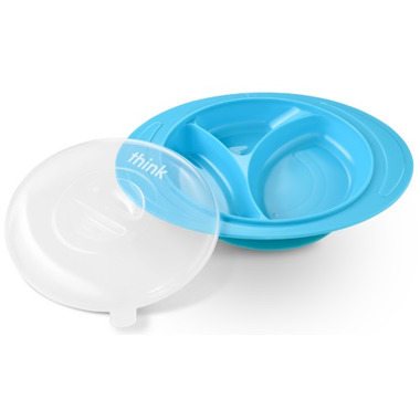 Thinkbaby Thinksaucer Plate Light Blue
