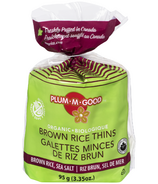 Plum.M.Good Organic Brown Rice Thins with Sea Salt