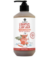 Alaffia Baby & Kid's Shampoo & Body Wash Coconut Strawberry