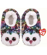 Ty Fashion Owen the Owl Sequin Slipper Socks