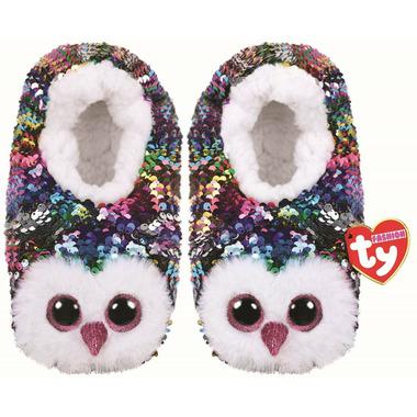 Ty Fashion Owen the Owl Sequin Slipper Socks