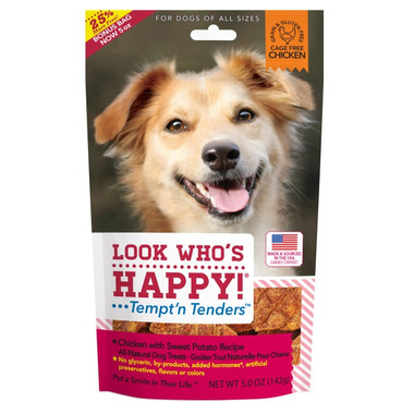 Look Who\'s Happy Chicken & Sweet Potato Crusted Dog Treats