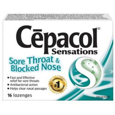 Cepacol Sensations Sore Throat & Blocked Nose Lozenges