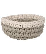 Danica Studio Crochet Basket Ivory/Grey