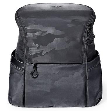 Skip Hop Paxwell Easy Access Diaper Backpack Black Camo