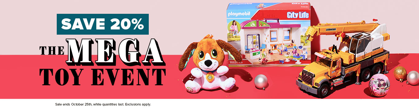 Save 20% on The Mega Toy Event