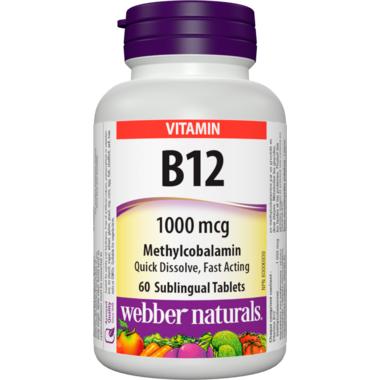 Webber Naturals B12 Sublingual Tablets Methylcobalamin