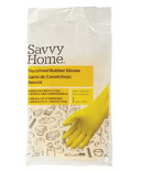 Savvy Home Household Flocklined Rubber Gloves Small/Medium