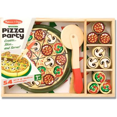 Melissa & Doug Pizza Party Wooden Pretend Play Set