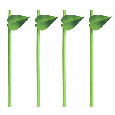 Kikkerland Leaf Straws 12 Pack