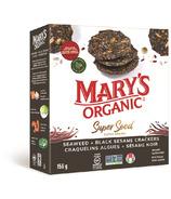 Mary's Organic Crackers craquelins aux algues et sésame noir super grains