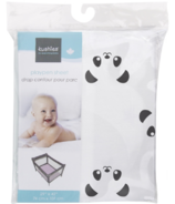 Kushies Playpen Sheet Pandas Black & White