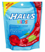Halls Kids Cough & Sore Throat Pops Cherry Flavour