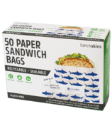 Lunchskins Sealable Paper Sandwich Bags Shark