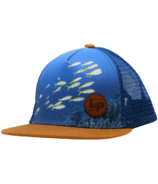 L&P Apparel Snapback Trucker Hat Blue Fish