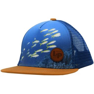 L&P Apparel Snapback Trucker Hat Blue Fish