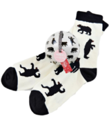 Little Blue House Women's Socks in Ornament Black Bears