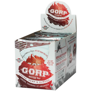 GORP Clean Energy Bars Cocoa, Hemp & Almond