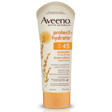 Aveeno Protect + Hydrate Sunscreen for Face & Body SPF 45