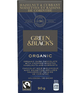Green & Black's Organic Chopped Roasted Hazelnuts & Currants Dark Chocolate
