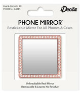 iDecoz Phone Mirror with Crystals Rose Gold Square