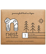 nest Natural Plant Based Baby Diaper Size 1