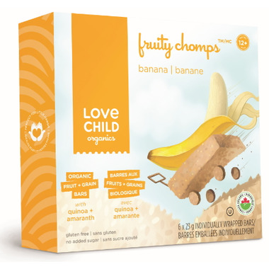 Love Child Organics Fruity Chomps Banana Bars