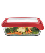 Anchor TrueSeal 11 Cup Rectangular Storage Container with Red Lid