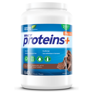 Genuine Health Proteins+ Powder Large Pack Natural Chocolate