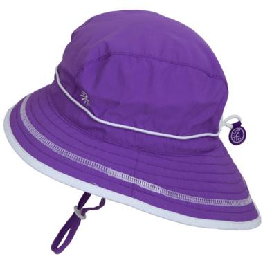 Calikids Quick-Dry Bucket Hat Extra Wide Brim Purple