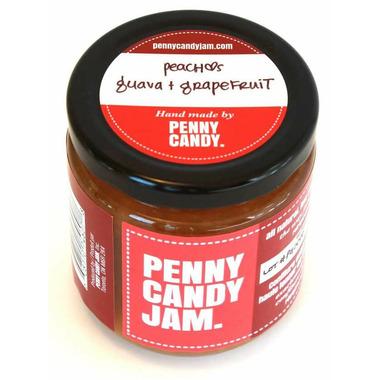 Penny Candy Jam Preserved Fruit Jam Peach, Guava and Grapefruit