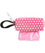 Oh Baby Bags Duffel Dispenser Set Pink & White Dot
