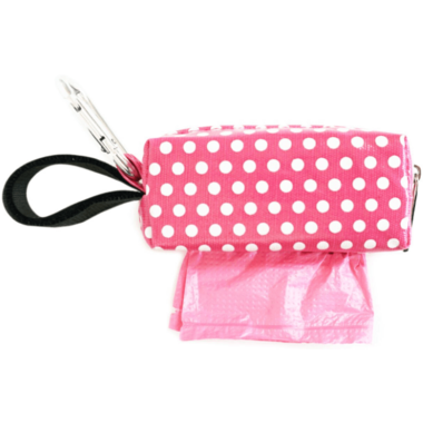 Oh Baby Bags Duffel Dispenser Set Pink & White Dot